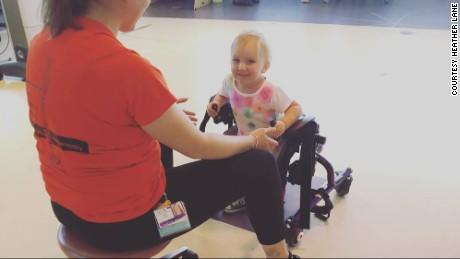 Zéa uses assistive devices to move around.