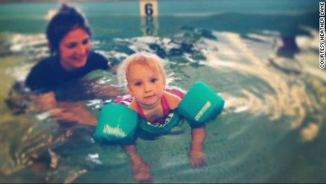 Zéa working on her aquatic therapy.