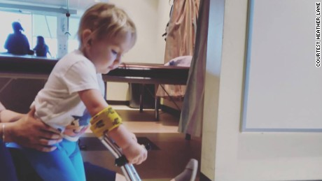 Zéa uses a walker at home between sessions.