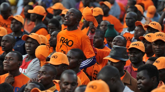 Supporters of the National Super Alliance (NASA) opposition leader Raila Odinga gather at Uhuru Park in Nairobi on Wednesday.