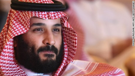 "Saudi Crown Prince Mohammed bin Salman attends the Future Investment Initiative (FII) conference in Riyadh, on October 24, 2017. The Crown Prince pledged a ""moderate, open"" Saudi Arabia, breaking with ultra-conservative clerics in favour of an image catering to foreign investors and Saudi youth.  ""We are returning to what we were before -- a country of moderate Islam that is open to all religions and to the world,"" he said at the economic forum in Riyadh.  / AFP PHOTO / FAYEZ NURELDINE        (Photo credit should read FAYEZ NURELDINE/AFP/Getty Images)"