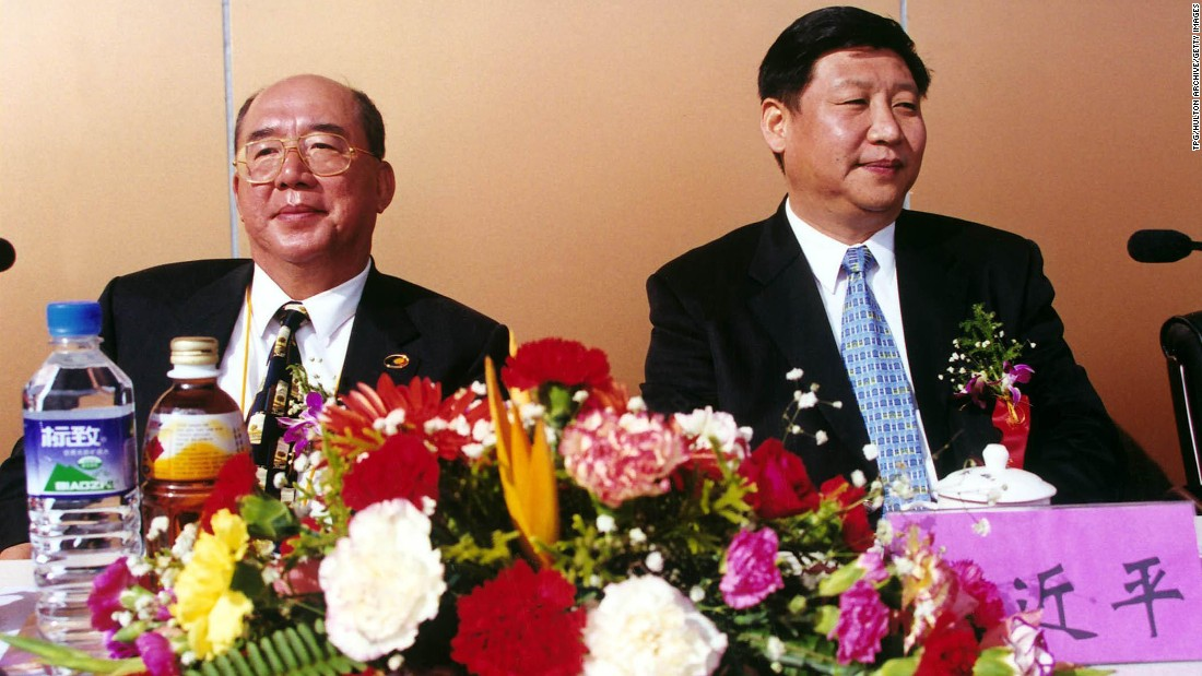 Xi meets with Wu Poh-hsiung, vice president of the opposition party Kuomintang, in 2000. From 1996-2002, Xi held various posts in China's Fujian Province, including governor.