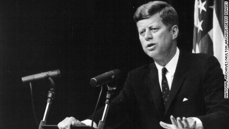 President John F. Kennedy speaks at a press conference September 13, 1962. (Photo by National Archive/Newsmakers)