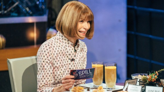Anna Wintour plays Spill Your Guts or Fill Your Guts with James Corden.