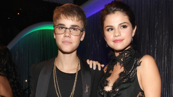 Justin Bieber and Selena Gomez at the 2011 MTV Video Music Awards.