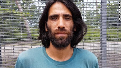 Behrouz Boochani, above, could not attend the ceremony for the Victorian Premier's Literary Awards.