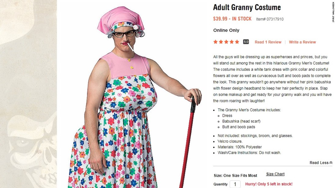 an adult granny costume from spirit halloween