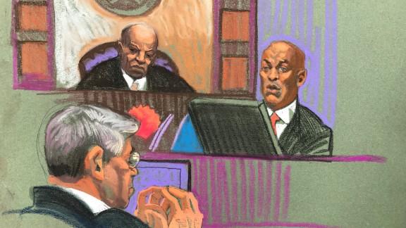 Sketches from the Menendez trial in Newark, NJ. Thursday, October 26, 2017