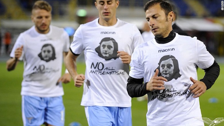 Lazio stands with Anne Frank
