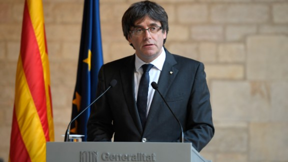 Catalan president Carles Puigdemont fled to Belgium after the failed independence bid.