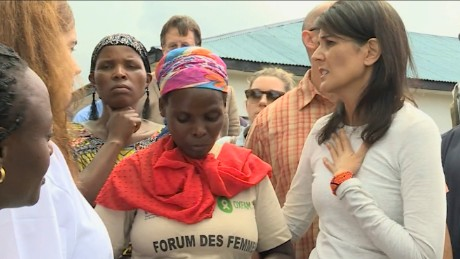 Nikki Haley reflects amid displaced Congolese