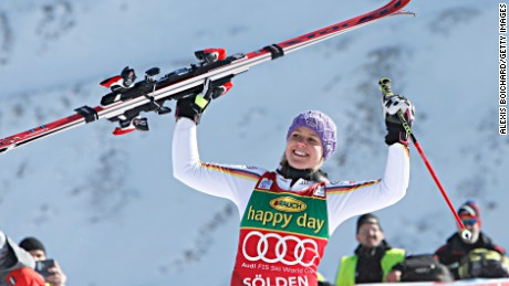 Viktoria Rebensburg won the World Cup opener in Austria.