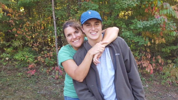 Dustin and his mother, Lisa.