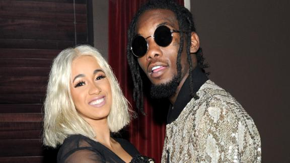 NEW YORK, NY - SEPTEMBER 12:  Cardi B (L) and Offset attend NYLON