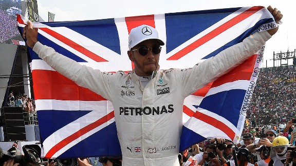 Lewis Hamilton wins the 2017 world championship to claim his fourth F1 title. The Mercedes driver finished ninth to secure the two points he needed to guarantee Vettel could not catch him in the last two races. After the two collided at the start of the race, Vettel fought back to eventually finish second behind Red Bull's Max Verstappen. Hamilton was ninth. Verstappen's third F1 win was overshadowed by the towering achievements of Hamilton who became the most successful British driver of all time and only the fifth man in F1 history to win four world championships.   Drivers' title race after round 18 Hamilton 333 points Vettel 277 points Bottas 262 points