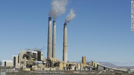 CASTLE DALE, UT - OCTOBER  9: Emissions rise from the smokestacks of Pacificorp's 1440 megawatt coal fired power plant on October 9, 2017 in Castle Dale, Utah.  It was announced today that the Trump administration's EPA will repeal the Clean Power Plan,that was put in place by the Obama administration.  (Photo by George Frey/Getty Images)