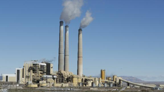 CASTLE DALE, UT - OCTOBER  9: Emissions rise from the smokestacks of Pacificorp