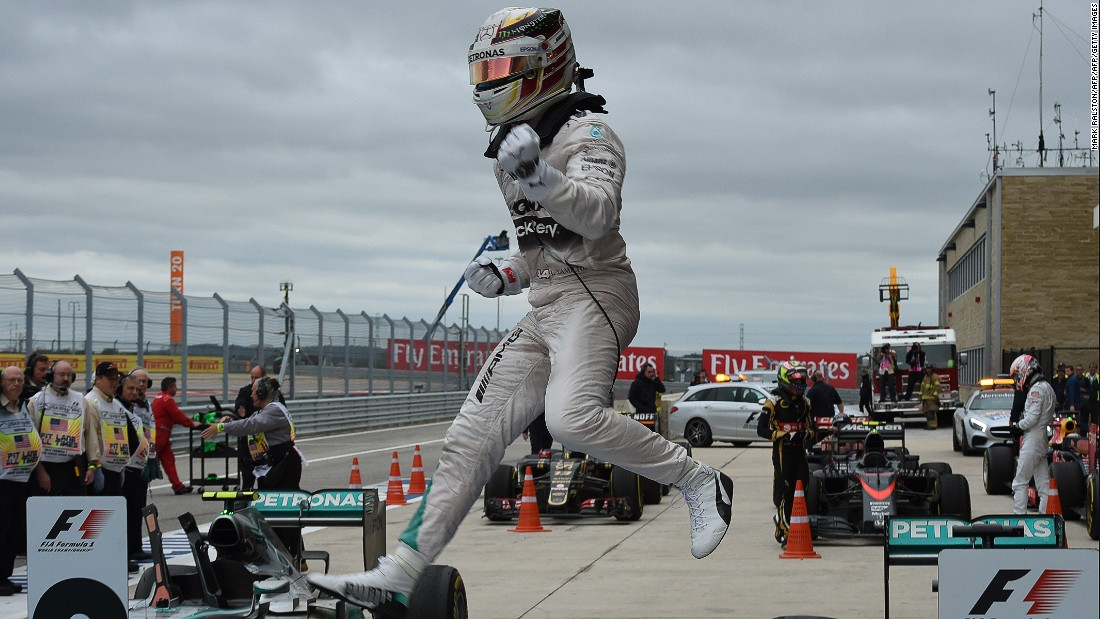 Hamilton clinched his third world title at the 2015 United States Grand Prix at Austin.