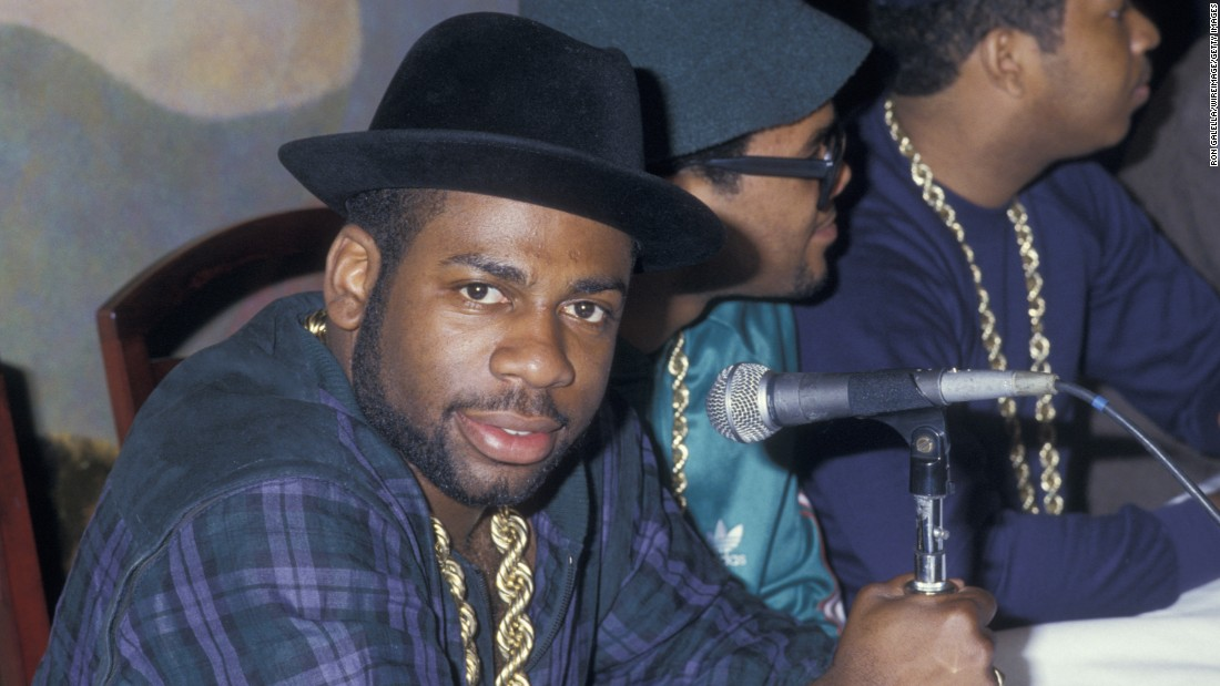Jam Master Jay, DMC and Rev Run of Run DMC attend Run DMC-Beastie Boys Press Conference on May 11, 1987 at B. Smith's Restaurant in New York City. Jay was shot and killed October 30, 2002 at a recoding studio in Queen, New York. The homicide is still unsolved.