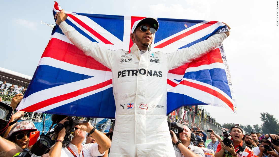 "Lewis Hamilton celebrates <a href=""http://www.cnn.com/2017/10/30/motorsport/hamilton-world-champion-4th-mexico-vettel-jackie-stewart/index.html"" target=""_blank"">his fourth Formula One title</a> at the end of the Mexican Grand Prix on Sunday, October 29. The British driver is now part of an elite group that has won at least four F1 titles."