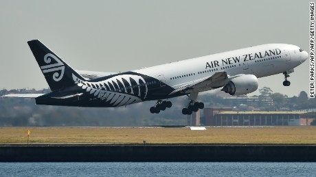 An Air New Zealand plane takes off from the airport in Sydney on August 23, 2017.  Air New Zealand posted a 17.5 percent fall in annual net profit on August 23 as increased competition hit the carrier's bottom line. / AFP PHOTO / Peter PARKS        (Photo credit should read PETER PARKS/AFP/Getty Images)