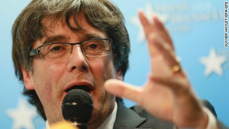 Deposed Catalan leader 'not seeking asylum in Belgium'