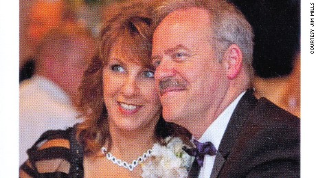 Jim and Leeanne Mills at the 2014 wedding of their daughter. Leeanne Mills died in hospice care in August 2016.