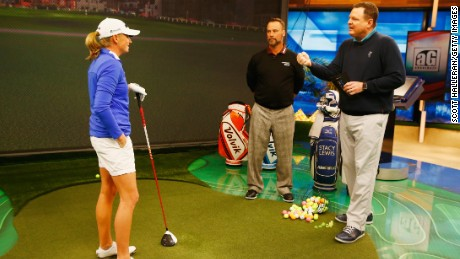 Charlie Rymer (right) is a former PGA professional and joined Golf Channel in 2009.