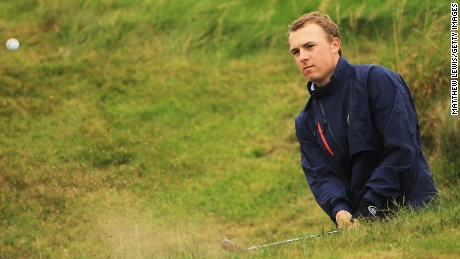 Spieth competing at the 2011 Walker Cup one year before turning professional.