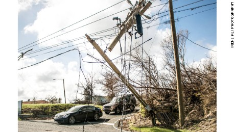 More than half of the island's homes still have no electricity.