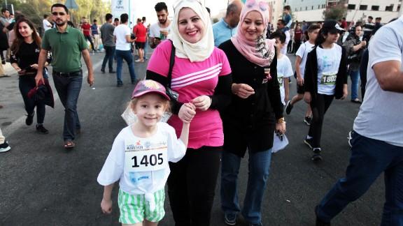 Organizers said 20% of participants were female.