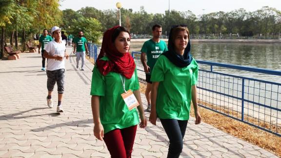 The race finish line was located in Sami Abdularahman Park.