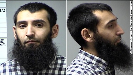 Photos of Sayfullo Saipov taken in October 2016 after an arrest in St. Charles County, Mo.Saipov was booked after a traffic violation in St. Charles County on an outstanding warrant from another jurisdiction, according to a county corrections sergeant.