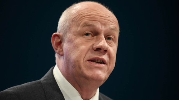 First Secretary of State Damian Green photographed at the annual Conservative Party conference on October 1 in Manchester, England.