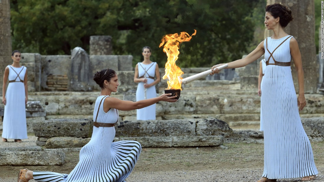 Initially derived from the sun's rays in a parabolic mirror, the flame starts its epic journey at the Temple of Hera, site of the Olympic Games in ancient times.
