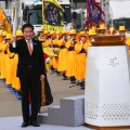 South Korean Prime Minister Lee Nak-Yon olympic torch incheon bridge
