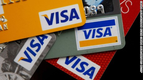 SAN FRANCISCO - FEBRUARY 25:  Visa credit cards are arranged on a desk February 25, 2008 in San Francisco, California. Visa Inc. is hoping that its initial public offering could raise up to $19 billion and becoming  the largest IPO in U.S. history.  (Photo Illustration by Justin Sullivan/Getty Images)