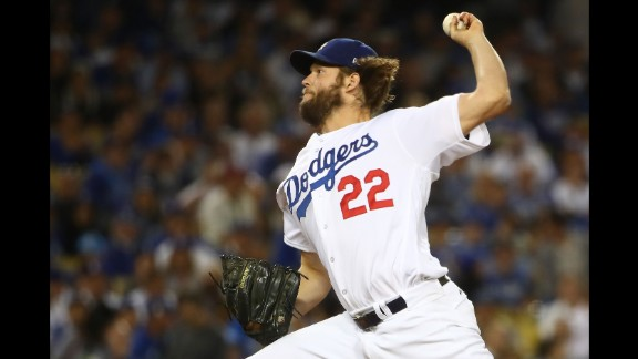 Kershaw, the Dodgers' ace, came into the game in the third inning and threw four shutout innings.