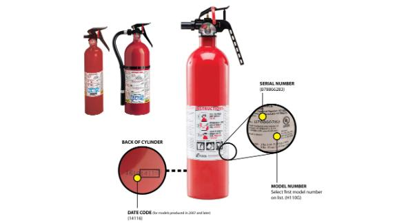 If you own a Kidde fire extinguisher, here's where to check the model and serial numbers.
