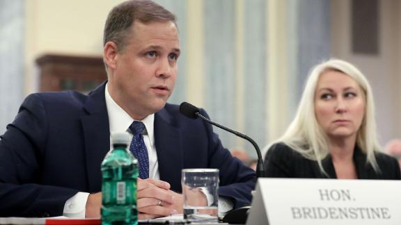 Rep. James Bridenstine, an Oklahoma Republican, testifies before the Senate Commerce, Science and Transportation Committee during his confirmation hearing to be administrator of NASA in the Russell Senate Office Building on Capitol Hill last November in Washington, DC. (Photo by Chip Somodevilla/Getty Images)