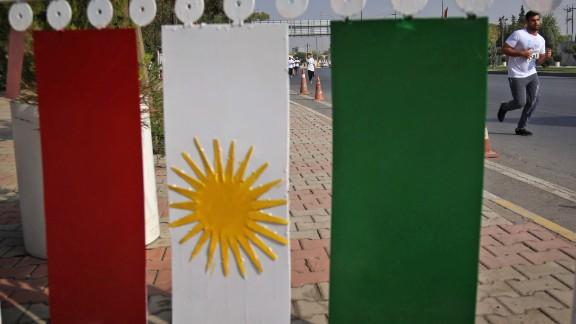 Kurdish flags were prevalent along the race routes.