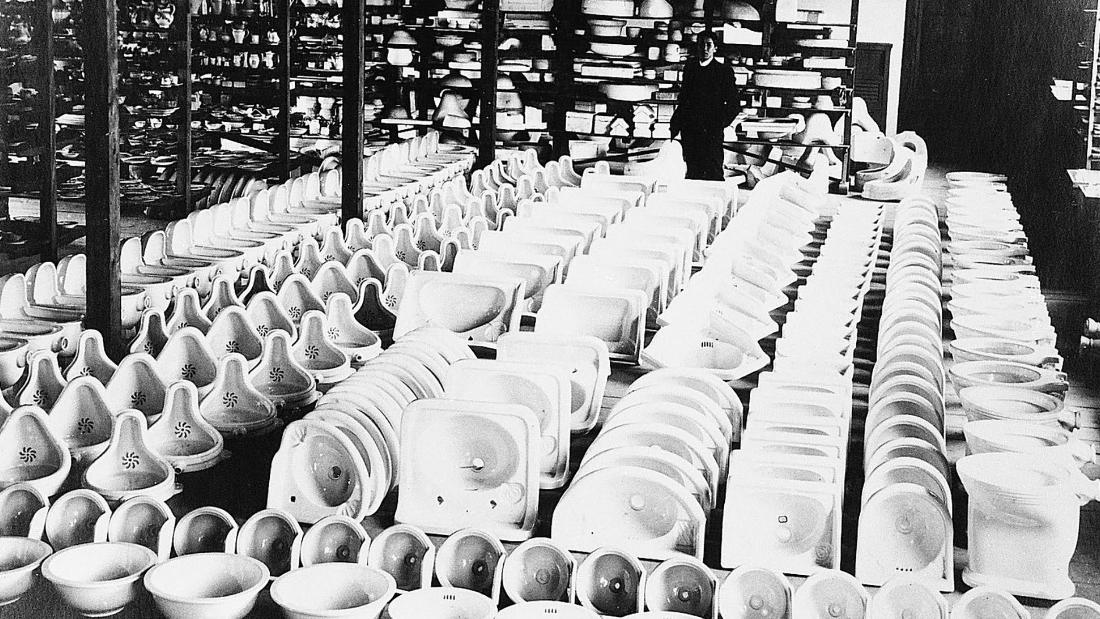 The journey to revolutionize sanitary ware in Japan began in this factory, but back then  TOTO was called the Toyo Toki Company.