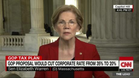 Warren: GOP tax plan a 'payoff to rich donors'