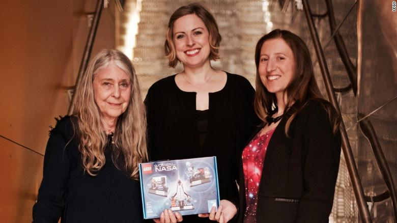 From left, Margaret Hamilton, Tara Wike and Maia Weinstock after the final design presentation.