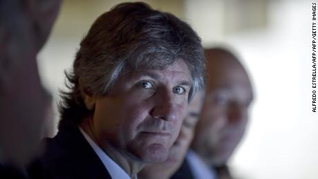 Argentine Vice President Amado Boudou listens to an explanation during the inauguration of an Interparliamentary Meeting between Mexico and Argentina at the Mexican Congress in Mexico City on August 11, 2014. Boudou faced his second prosecution, on August 8, 2014, for falsification of public documents in an investigation for the alleged irregular purchase of a car 20 years ago. AFP PHOTO/ALFREDO ESTRELLA        (Photo credit should read ALFREDO ESTRELLA/AFP/Getty Images)