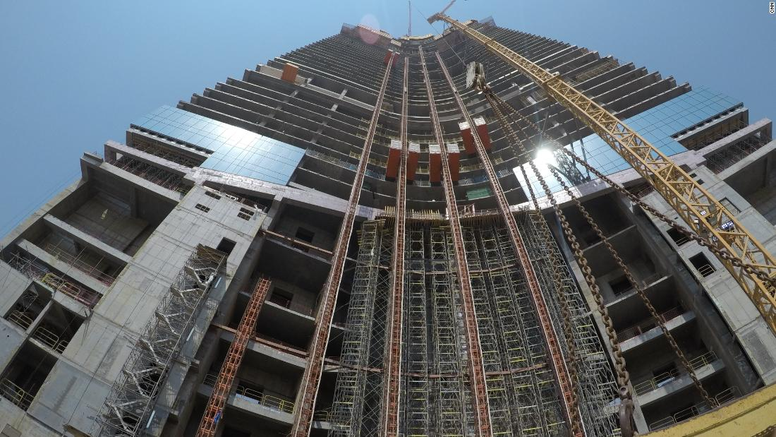 The tower is currently at floor 61 -- standing 245.5 meters tall. It is now the highest structure in Jeddah, and currently taller than the Statue of Liberty by 155 meters, but still 60 meters shorter than the Eiffel Tower.<br />