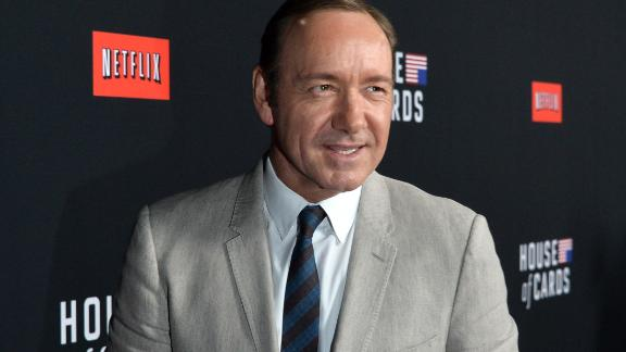 LOS ANGELES, CA - FEBRUARY 13:  Executive producer/actor Kevin Spacey arrives at the special screening of Netflix