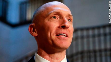 Carter Page, a foreign policy adviser to Donald Trump's 2016 presidential campaign, speaks with reporters following a day of questions from the House Intelligence Committee, on Capitol Hill in Washington, Thursday, Nov. 2, 2017. (AP/J. Scott Applewhite)