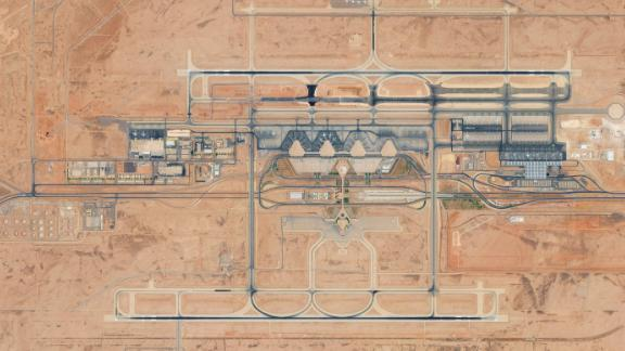 KING KHALID INTERNATIONAL AIRPORT, RIYADH, SAUDI ARABIA - AUGUST 24, 2017:  DigitalGlobe Satellite Imagery of King Khalid International Airport in Riyadh, Saudi Arabia.  (Photo DigitalGlobe via Getty Images)