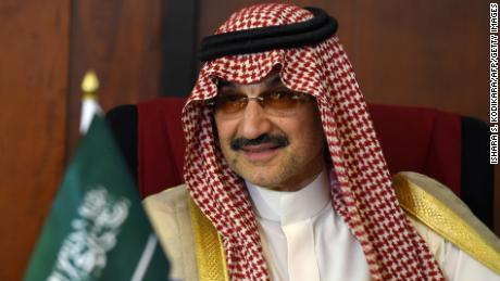 Saudi Arabian royal Al-Waleed Bin Talal bin Abdulaziz al Saud looks on during a meeting with Sri Lankan Foreign Minister Ravi Karunanayake in Colombo on July 4, 2017. Saudi Arabian royal Al-Waleed Bin Talal bin Abdulaziz al Saud is on a short visit to hold talks with Sri Lankan leaders. / AFP PHOTO / ISHARA S. KODIKARA        (Photo credit should read ISHARA S. KODIKARA/AFP/Getty Images)